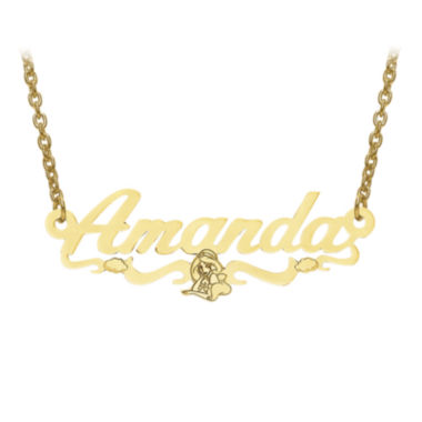jcpenney.com | Disney Personalized Kids Jasmine 13x35mm Name Necklace