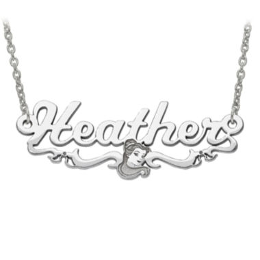 jcpenney.com | Disney Personalized Belle 34x13mm Name Necklace