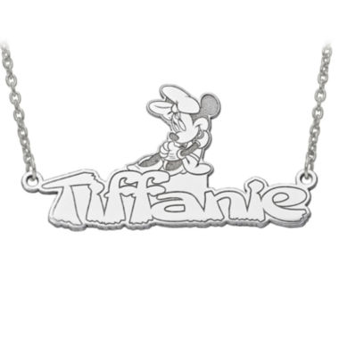 jcpenney.com | Disney Personalized Minnie Mouse 34x17mm Name Necklace