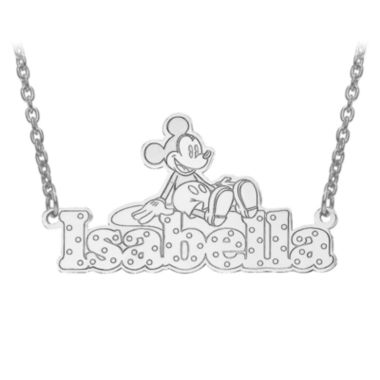 jcpenney.com | Disney Personalized Mickey Mouse Diamond Cut Name Necklace
