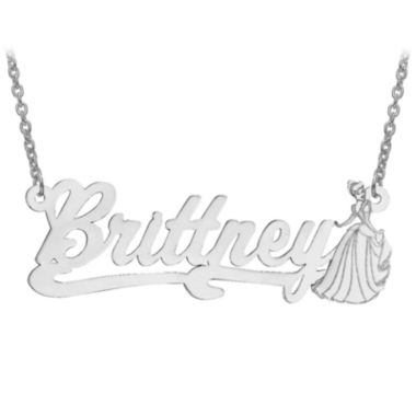 jcpenney.com | Disney Personalized Cinderella 17x45mm Name Necklace
