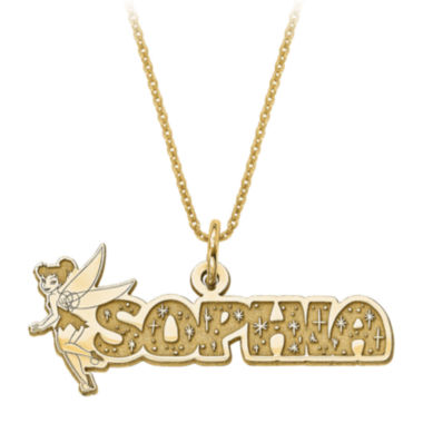 jcpenney.com | Disney Personalized Tinker Bell 30x31mm Name Necklace