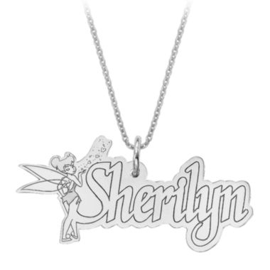 jcpenney.com | Disney Personalized Tinker Bell 15x31mm Name Necklace