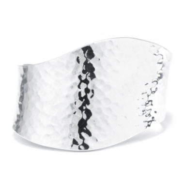 jcpenney.com | Sterling Silver Hammered Wave Cuff Bracelet