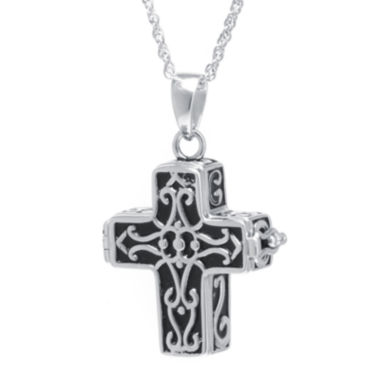 jcpenney.com | Sterling Silver Vintage Cross Prayer Pendant Necklace