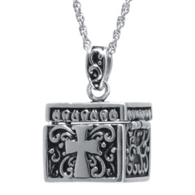 jcpenney.com | Sterling Silver Square Cross Prayer Box Pendant Necklace