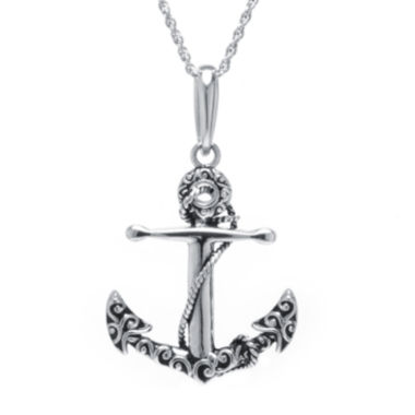 jcpenney.com | Sterling Silver Anchor Pendant Necklace