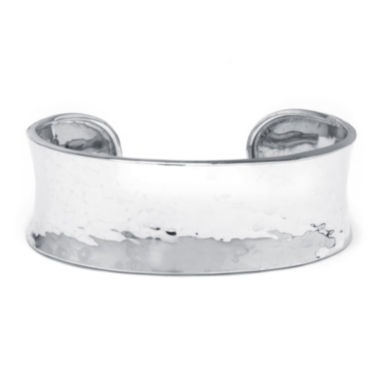 jcpenney.com | Sterling Silver Concave Hammered Cuff Bracelet