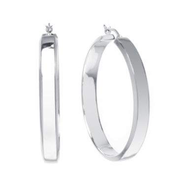 jcpenney.com | Sterling Silver Square Edge 58mm Hoop Earrings