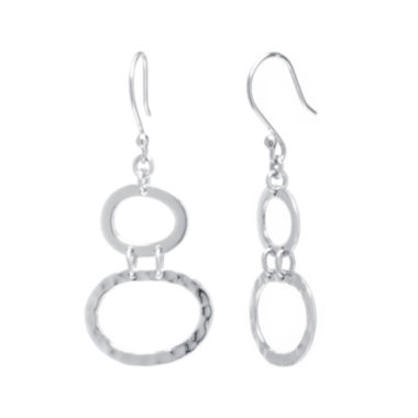 jcpenney.com | Sterling Silver Double Oval Drop Earrings