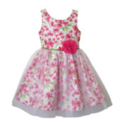 Lilt Sleeveless Floral Overlay Dress - Preschool Girls 4-6x