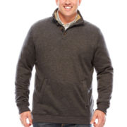 Arrow® Saranac Mockneck Fleece Pullover Sweater - Big & Tall