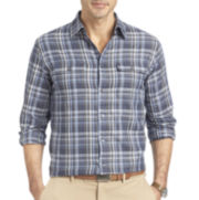 Van Heusen® Long-Sleeve Heathered Button Front Shirt