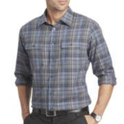 Van Heusen® Long-Sleeve Heathered Button Front Shirt