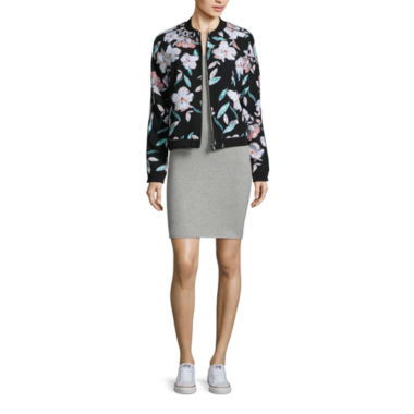 jcpenney.com | Decree Bomber Jacket or Cross Back Bodycon Dress - Juniors