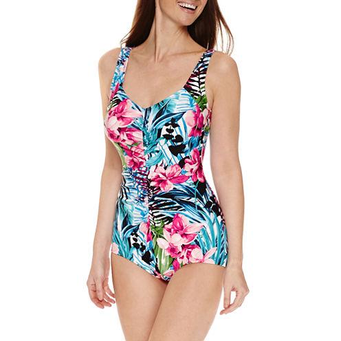 Le Cove Girl Leg One Piece Swimsuit