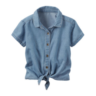 jcpenney.com | Carter's Short Sleeve Button-Front Shirt Girls