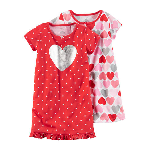 Carter's 2-pc. Nightgown Set-Preschool Girls