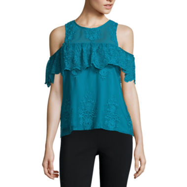 jcpenney.com | Trixxi Short Sleeve Round Neck Blouse-Juniors