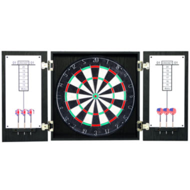jcpenney.com | Hathaway Winchester Dartboard & Cabinet Set - Black