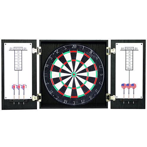 Hathaway Winchester Dartboard & Cabinet Set - Black