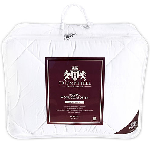 Triumph Hill 100% Australian Wool Heavyweight Jacquard Comforter