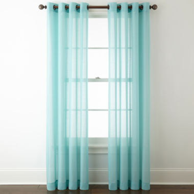 jcpenney.com | JCP Home Batiste Grommet-Top Sheer Curtain Panel