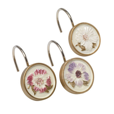 Popular Bath Dahlia Shower Curtain Hooks