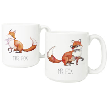 jcpenney.com | Cathy's Concepts Fox 2-pc. Coffee Mug