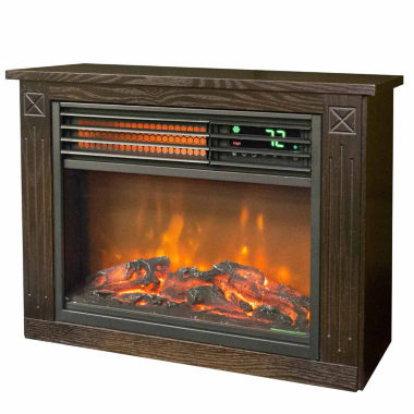 jcpenney.com | Lifesmart Compact Infraread Heater Fireplace - Dark Oak