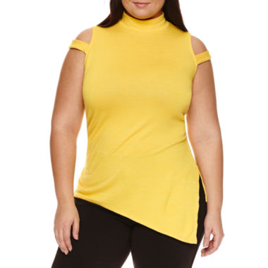 jcpenney.com | Bisou Bisou Sleeveless Mock Neck T-Shirt-Plus