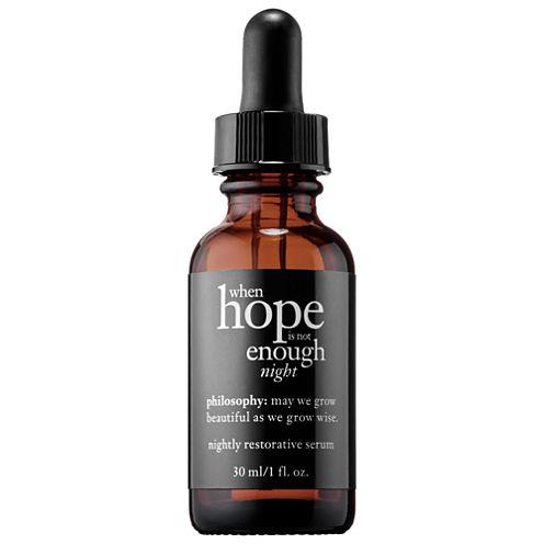 philosophy When Hope Is Not Enough Nightly Restorative Serum
