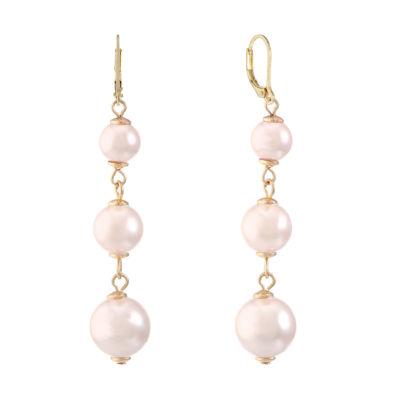 Monet Jewelry Monet Jewelry Pink Drop Earrings Z4c1T