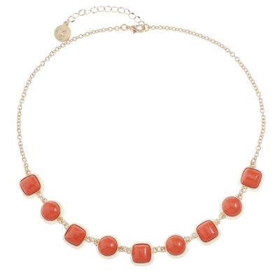Liz Claiborne Liz Claiborne Womens Orange Collar Necklace zEjxOKIxM