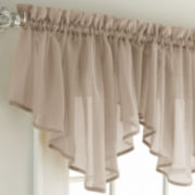 jcp home™ Lisette Rod-Pocket Sheer Ascot Valance