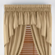 jcp home™ Supreme Antique Satin Rod-Pocket Shaped or Insert Valance