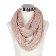 Metallic Pattern Infinity Neck Scarves