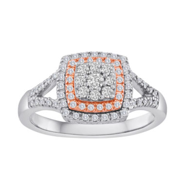 jcpenney.com | 1/2 CT. T.W. Diamond Two-Tone Frame Ring