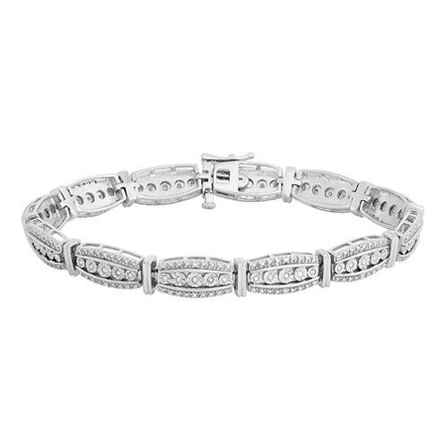 1/3 CT. T.W. Diamond Sterling Silver Bracelet