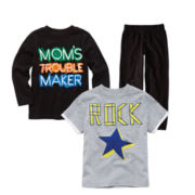Okie Dokie® Graphic Tee or Pants – Boys 2t-6