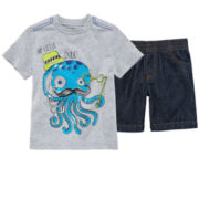 Okie Dokie® Graphic Tee or Shorts – Boys 2t-6
