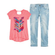 Arizona Short-Sleeve Keyhole Tee or Crop Pants – Girls 7-16 and Plus
