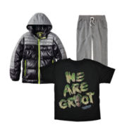 Groot Tee, Arizona French Terry Jogger Pants or Collection B® Jacket – Boys