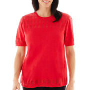 Alfred Dunner® Play On Color Short-Sleeve Sweater Shell