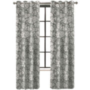 Colordrift Penelope Faux Silk Grommet-Top Curtain Panel
