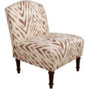 Allison Camelback Chair - Amir Print