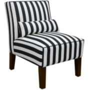 Olivia Armless Chair - Canopy Print
