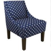 Paige Chair - Ikat Dots Print