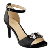 Liz Claiborne® Heidy Jeweled Heeled Sandals