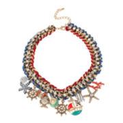 Bleu™ Nautical Shaky Charm Collar Necklace